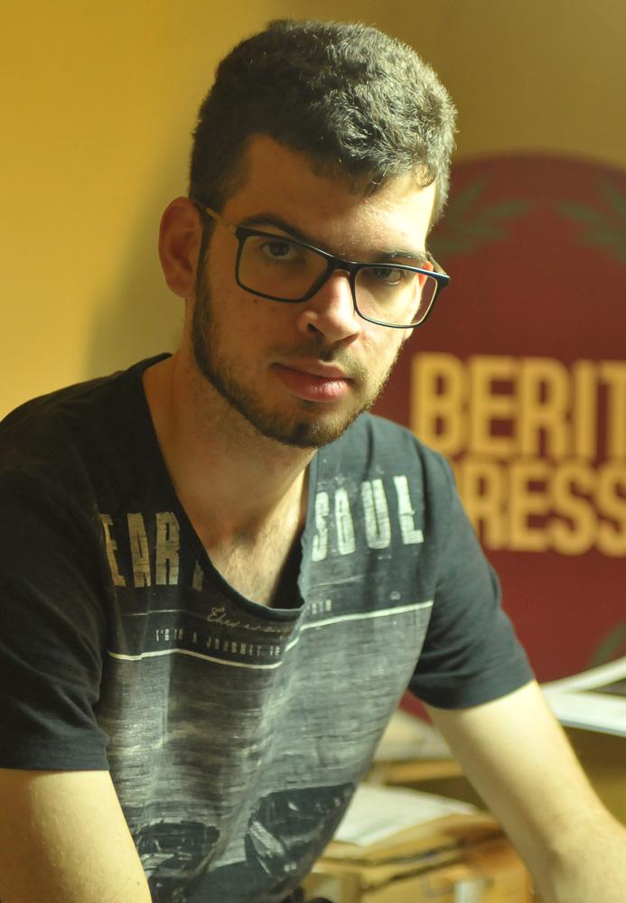 Daniel Marcondes na sede da Berit Press